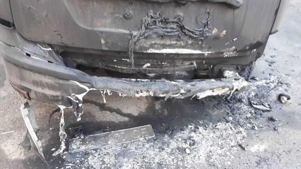 Все, що відомо про підпал автомобіля депутата Вінницької міської ради (Фото+Відео)