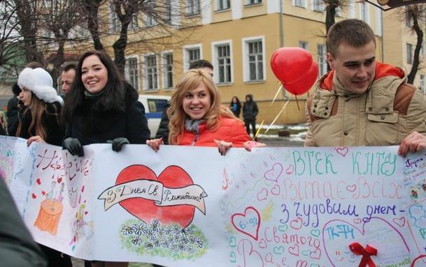 На День Святого Валентина вінницькі студенти організували «Лабіринт кохання»
