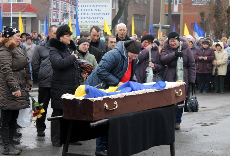 На Вінниччині попрощалися із ще одним бійцем, що загинув під Дебальцево (Фото+Відео)