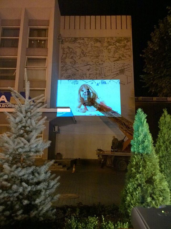 У центрі Вінниці на будівлі з'явився ще один масштабний малюнок (Фото)