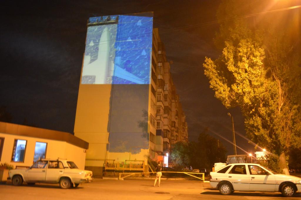 У Вінниці почали малювати перший мурал (Фото+Відео)