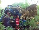 Моторошна ДТП на Вінниччині: зім'ята вщент вантажівка затисла водія (Фото)