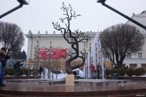 У Вінниці відкрили пам'ятник Небесній сотні - вишню свободи з бронзи (Фото)