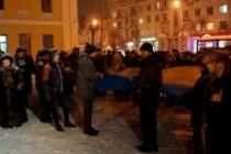 Вінничани вийшли на Євромайдан, не злякавшись снігопаду