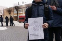 """Активісти пройшлися Вінницею із плакатами """"Влада - Я наступний?"""""""