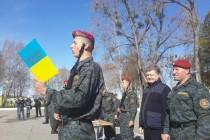 Порошенко слухав присягу бійців батальйону Національної гвардії України (Фото)