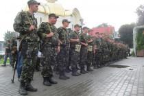 Вінницьких бійців у зону АТО проводжав Голуб миру (Фото+Відео)