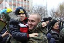 """Вінницькі бійці, яких у зону АТО проводив голуб миру, повернулися додому із """"гарячого"""" Донбасу без втрат (Фото)"""