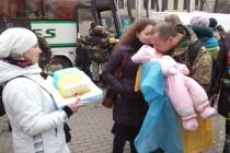 """Як зустрічали другу роту бійців колишнього батальйону """"Вінниця"""" із зони АТО (Фото+Відео)"""