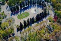 Весняний Центральний парк Вінниці зняли з висоти (Відео)