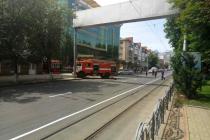 У Вінниці стоїть громадський транспорт через замінування Feride Plaza (Фото)