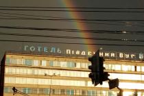 У Вінниці після грози стала подвійна веселка (Фото+Відео)