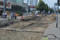 Як на Келецькій ремонтують трамвайні колії (Фото)