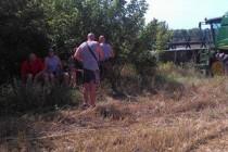 На Вінниччині обстріляли комбайн (Фото)