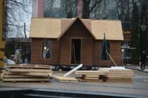 У центрі Вінниці будують будинок для Святого Миколая та Діда Мороза (Фото)