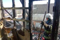 У Вінниці сталась масштабна пожежа: десятеро людей залишились без домівки (Фото+Відео)