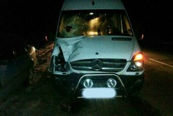 """На Вінниччині """"Mercedes"""" насмерть збив пішохода (Фото)"""