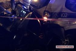 У Миколаєві троє поліцейських з Вінниці потрапили в ДТП на службовому авто (Фото)