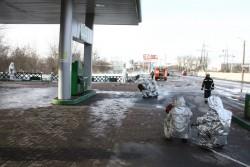 """У Вінниці рятувальники """"гасили"""" пожежу на АЗС  (Фото)"""