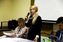 """До Вінниці на закритий з'їзд місцевої """"Батьківщини"""" приїхала Юлія Тимошенко (Фото)"""