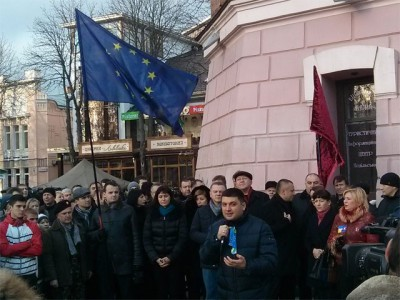 Гройсман з родиною приєднався до Євромайдану у Вінниці