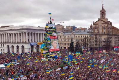 Панорама Евромайдану з висоти пташиного польоту