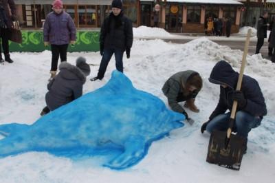 """В центрі Вінниці відбувся """"Парад сніговиків"""""""