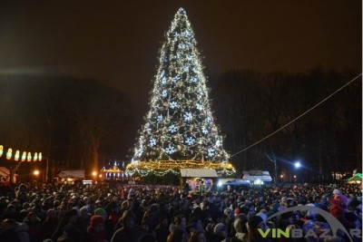 Відкриття новорічної ялинки у Вінниці 2017 (Фото+Відео)
