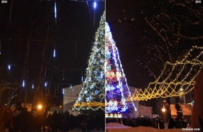 Головна новорічна ялинка Вінниці до оновлення та після (Фото)