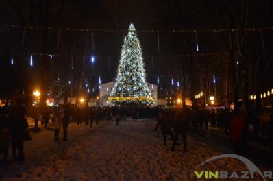 Вінницька ялинка увійшла до десятки найвищих в Україні (Фото)