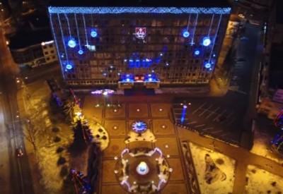 У Мережі з'явилося ролик новорічної Вінниці з висоти пташиного польоту (Відео)