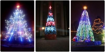 Новорічні ялинки з різних районів Вінницької області (Фото)