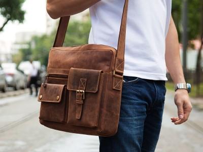 Преимущества мужских кожаных сумок