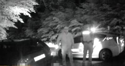 Біля Вінниці нетверезий водій залишив свою автівку та лісом тікав від патрульних (Відео)