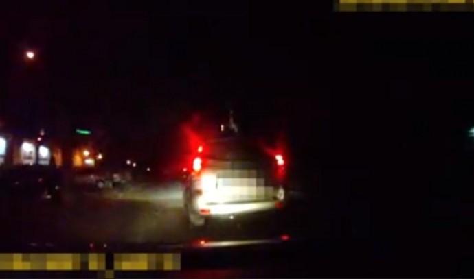 У Вінниці чоловік на автомобілі втікав від поліції, бо злякався (Відео)