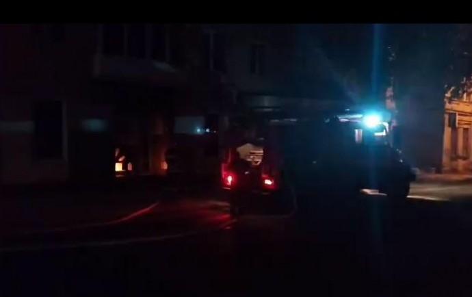 У Вінниці невідомі підпалили магазин (Відео)