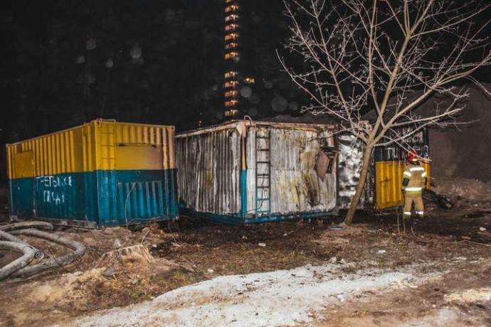 У Вінниці сталась пожежа на будівництві