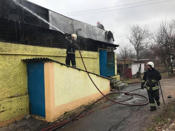 На Старому місті згоріло кафе (Фото)