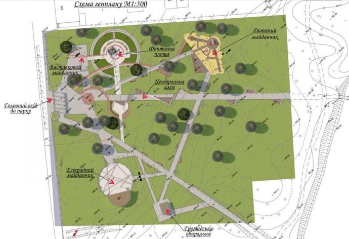 У Літині оновлять парк. Оприлюднили проект реконструкції (Фото)