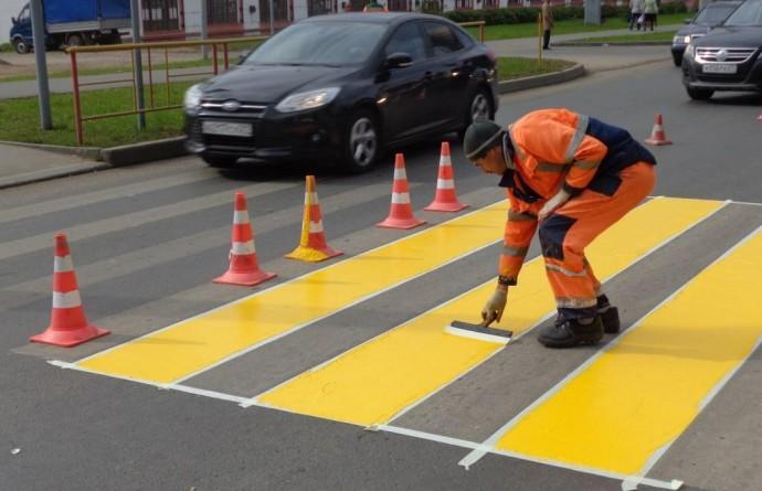 Преимущества краски для дорожной разметки