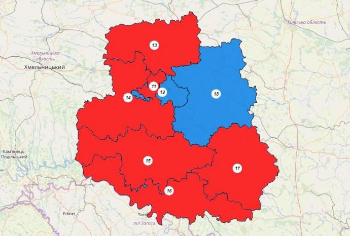 Відомі результати виборів по шести мажоритарним округам Вінниччини