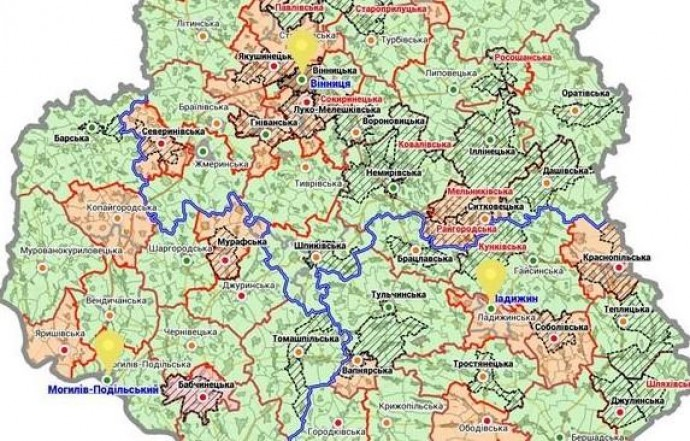 На Вінниччині планують створити три об'єднані райони