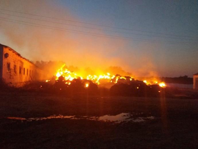 У Гайсинському районі горіла ферма (Фото)