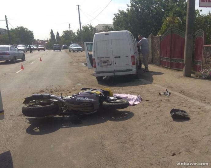 У Бершаді через ДТП загинув мотоцикліст (Фото)