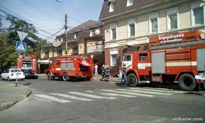 На проспекті Коцюбинського у піцерії загорілась вентиляція (Фото+Відео)