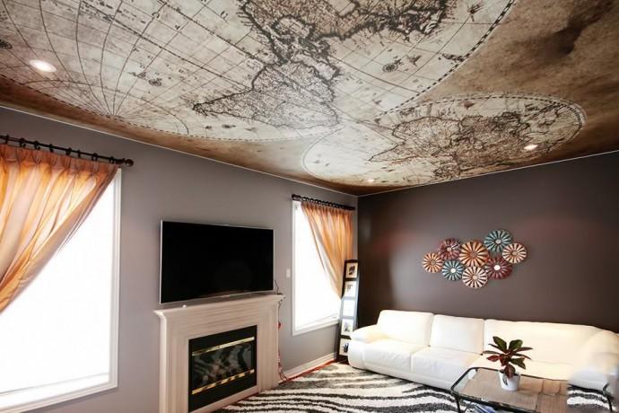 Фотообои на потолок - небо в вашем доме