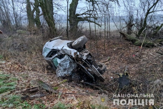 ДТП у Літинському районі: іномарка з'їхала в кювет та перевернулась (Фото)