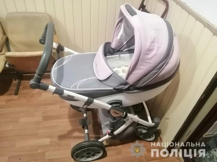 Віз драбину в дитячій колясці: на Замості затримали крадія-невдаху (Фото)