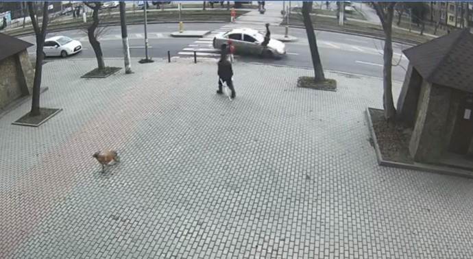 На пішохідному переході біля Лісопарку водій на Chery збив жінку (Відео)