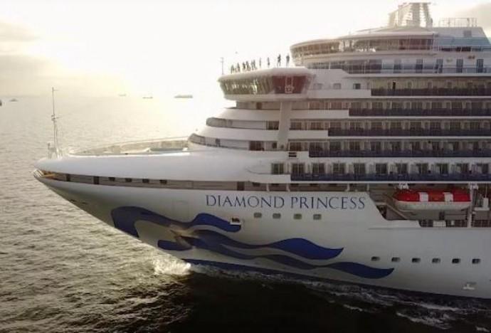 На лайнере Diamond Princess новые заболевшие коронавирусом, среди них есть украинец